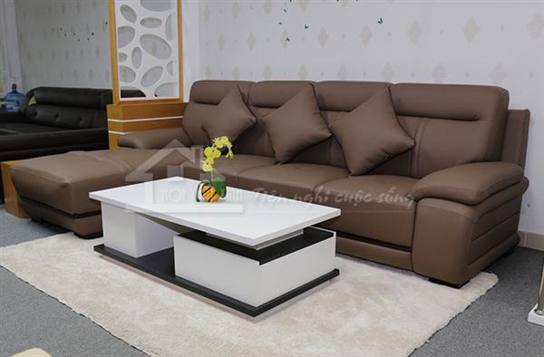 Kiểu phối màu lệch tông giữa sofa và thảm