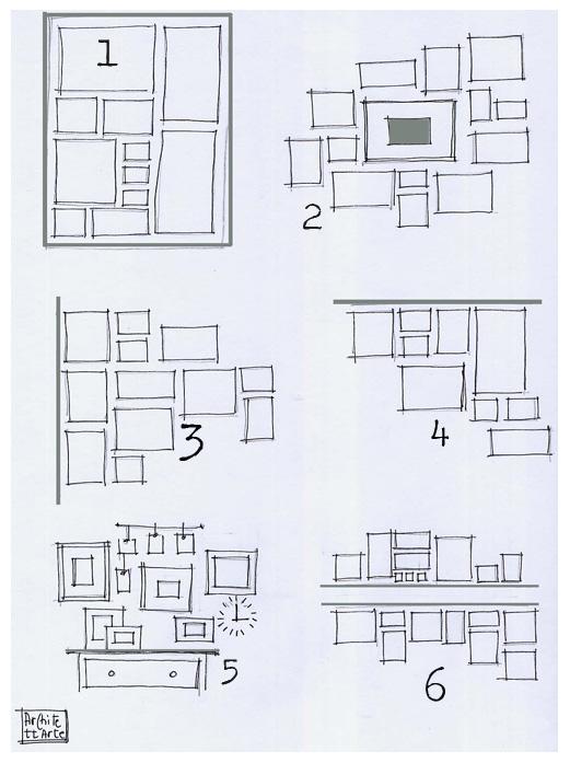 Architettarte come appendere i quadri for Quadri a parete