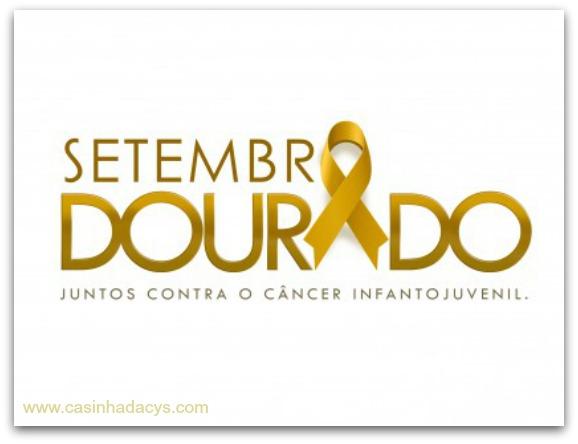 Setembro Dourado - campanha sobre o câncer infantojuvenil