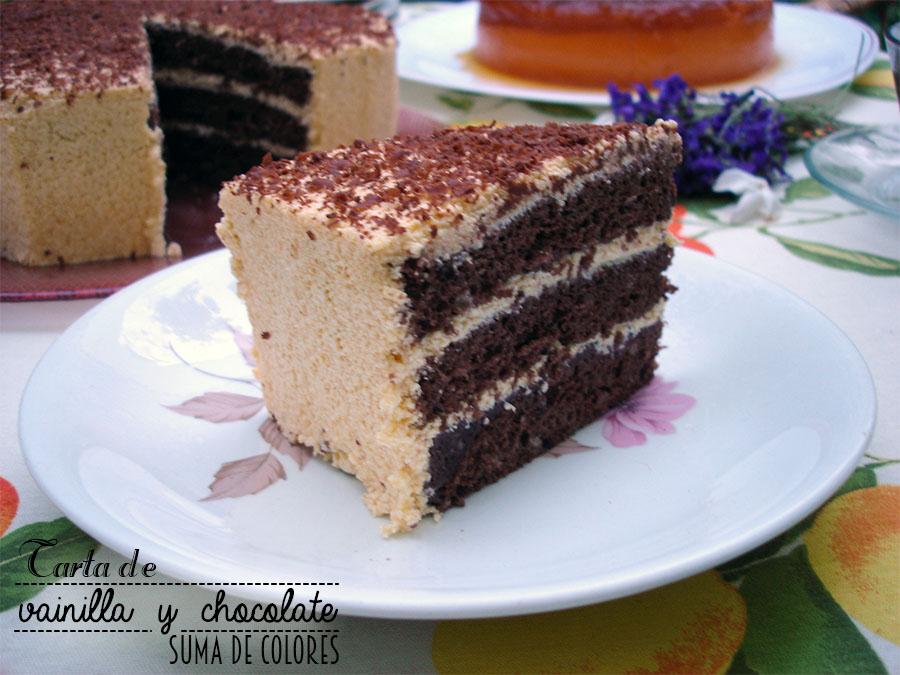 Tarta de vainilla y chocolate 05