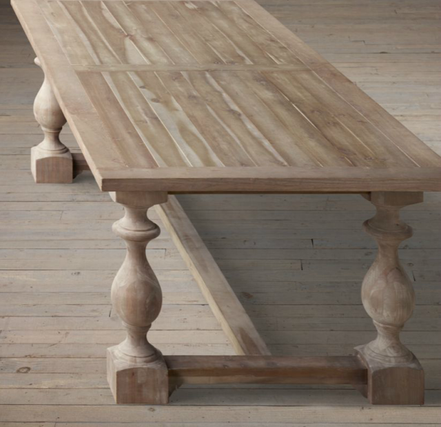 Restoration Hardwareu0027s Flatiron Dining Table U2013 60u2033 ($695) Or 72u2033 ($795). I  Love This Table But Had The Same Concerns As With The Monastery Table Since  The ...