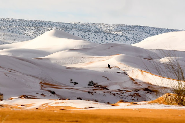 Snow in the Sahara Desert  Ain Sefra, Algeria.