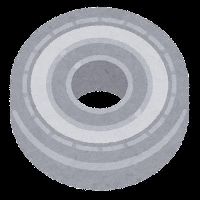 ボールベアリングのイラスト(シールド付き)