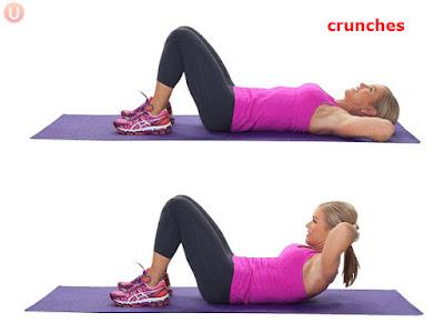 latihan crunch untuk perut rata
