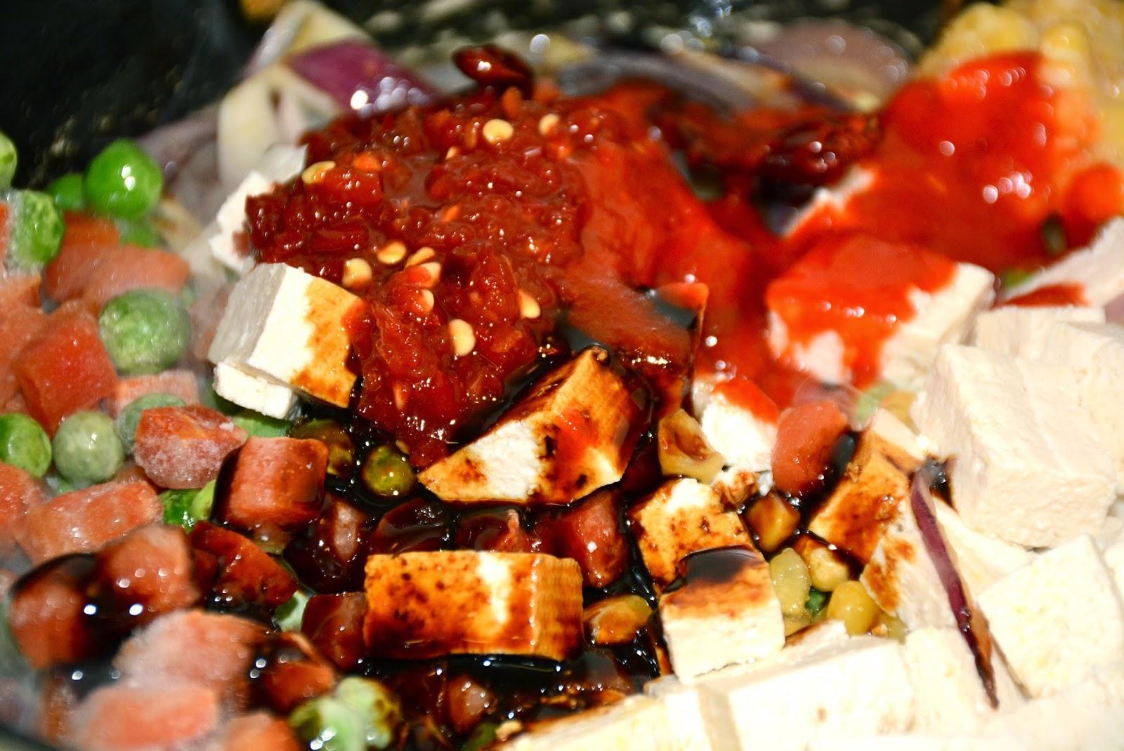 Nepali Tummy Vegetarian Nepali Style Tofu Fried Rice Recipe