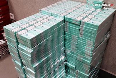 Policja z  Zawiercia Skonfiskowała Papierosy