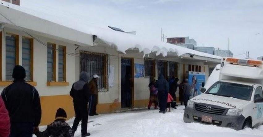 Heladas retrasan media hora el ingreso a colegios en Huancavelica, Puno y Arequipa
