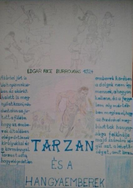 Tarzan és a hangyaemberek saját rajz könyvből lerajzolva