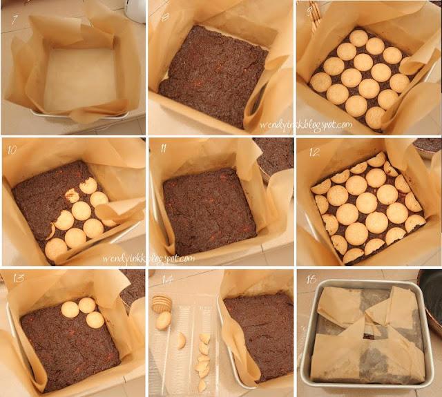 resepi kek biskut batik cheese, biskut batik keju,