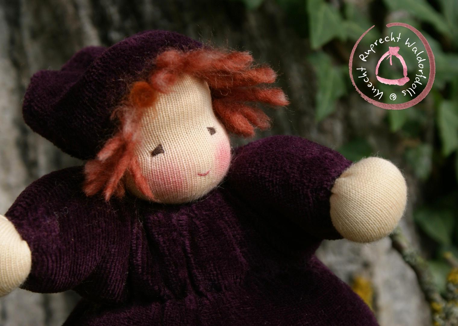 Autumn Baby - Waldorfdoll - Waldorf Doll - Babies First Doll - Cuddle Baby according to waldorf peda