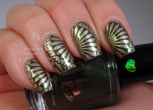 UberChic Beauty 21-02 over Spellbound Nails Hungarian Horntail