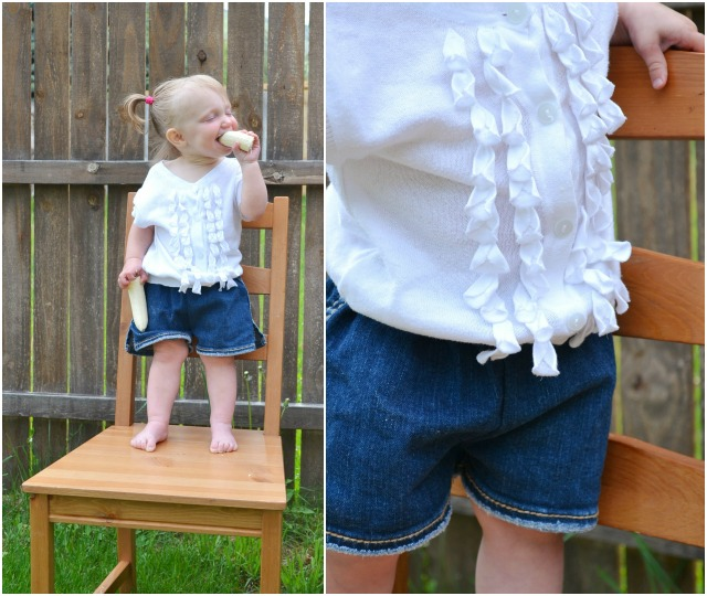 How to Upcycle: Baby Cap Sleeve Cardigan // DIY Sew
