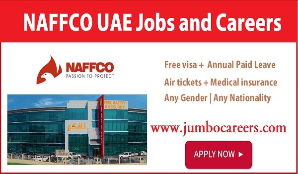 Salary details of latest free zone jobs Dubai, NAFFCO UAE vacant positions,
