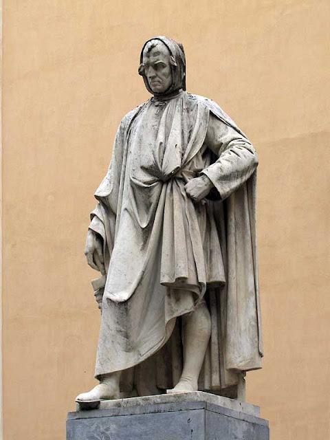 Monument to Nicola Pisano by Salvino Salvini, Santa Maria del Carmine, corso Italia, Pisa