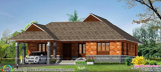 1723 square feet Kerala traditional home plan