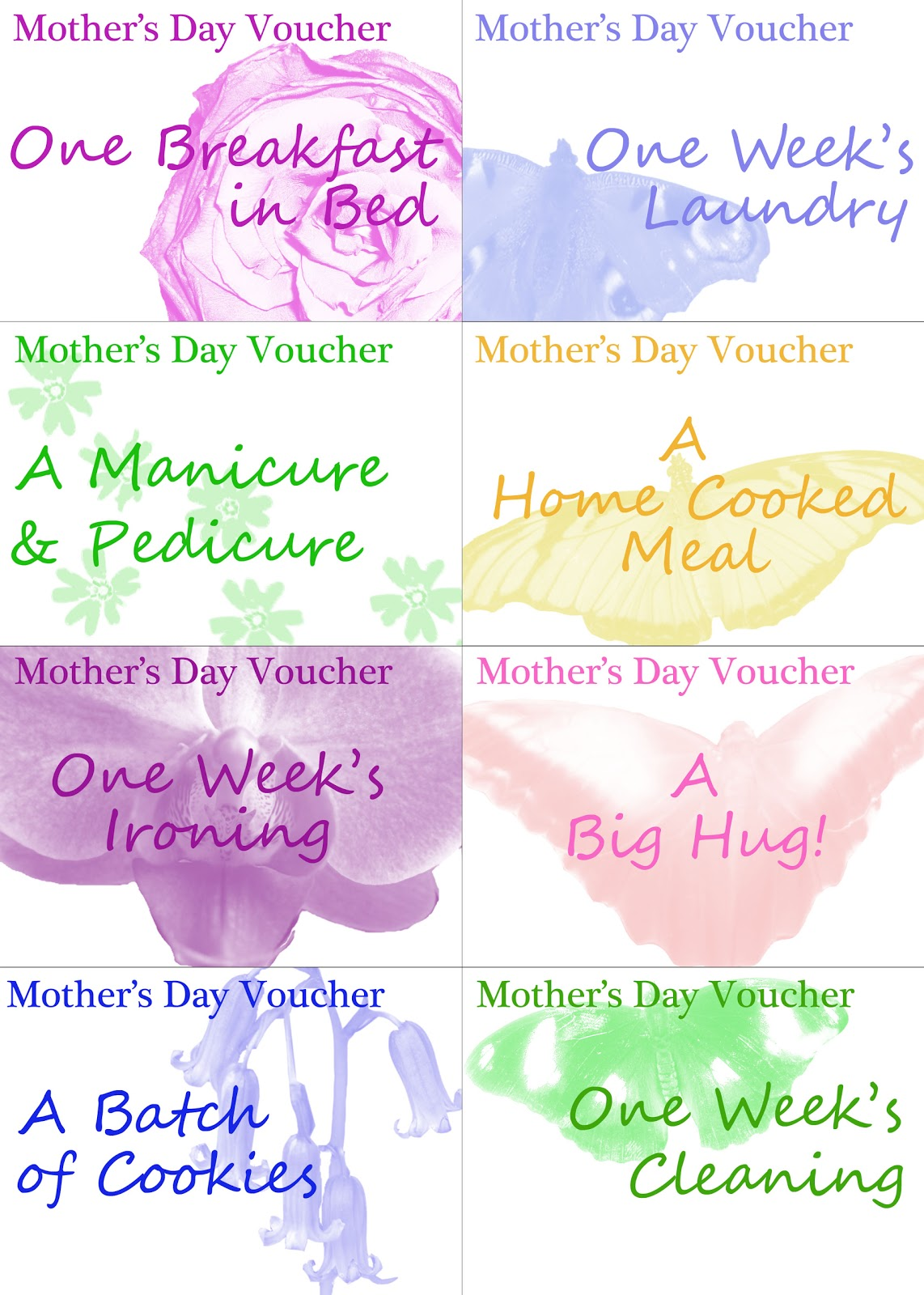 Unfortunately Oh Printable Mother S Day Vouchers
