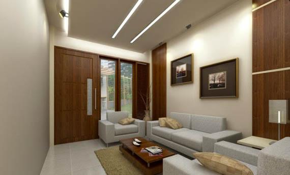 warna cat plafon ruang tamu sederhana