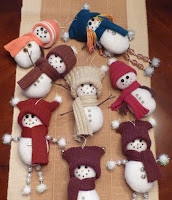 Creative snowmen ornaments
