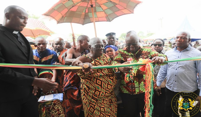 """""""We Are Receiving Our Share Of Development"""" – Ahafo Chiefs To President Akufo-Addo"""