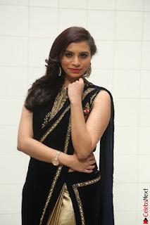 Priyanka Ramana in Beautiful Designer Black Saree At We Craft Elegance Expo Launch 037.JPG