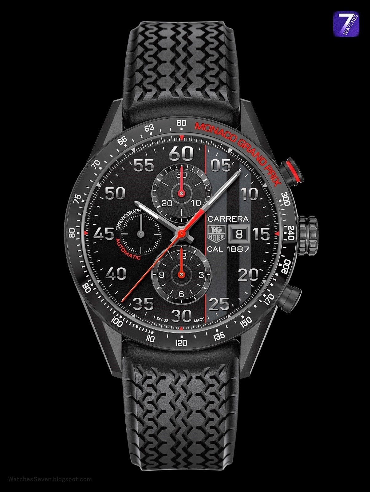 watches 7 tag heuer carrera calibre 1887 chronograph. Black Bedroom Furniture Sets. Home Design Ideas
