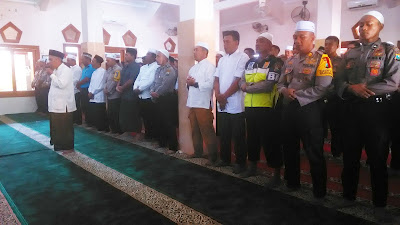 Polres Jombang Gelar Shalat Ghoib untuk Polisi Korban Insiden Mako Brimob