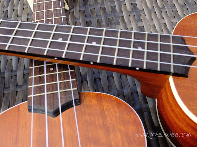 Side markers on Kala KA-S ukulele