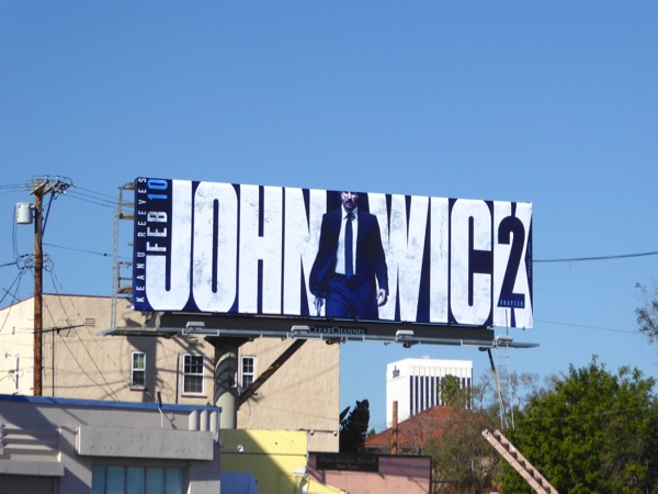 John Wick Chapter 2 film billboard