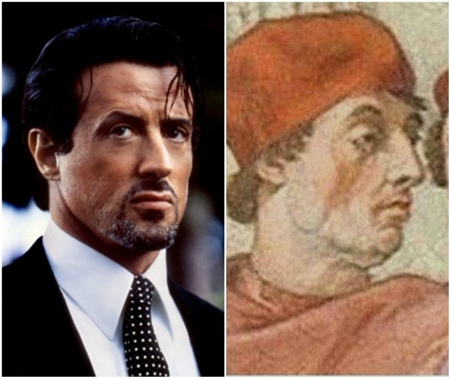 Sylvester Stallone e o Papa Gregório IX