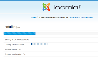tahap install joomla