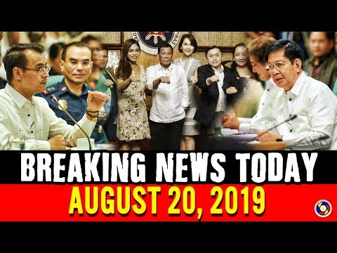 BREAKING NEWS TODAY AUGUST 20, 2019 | PRES. DUTERTE | PING LACSON | ISKO MORENO | VICO SOTTO