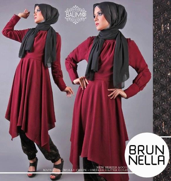 20 Model Baju Muslim Bahan Kaos Spandek Terbaru 2016