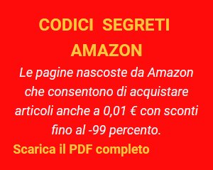 Codici nascosti Amazon 2020