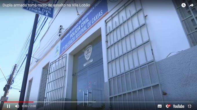 INSEGURANÇA - Dupla armada toma moto de assalto na Vila Lobão em Caxias