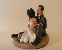 torta sposi top cake topper personalizzato modellini statuette sposini orma magiche