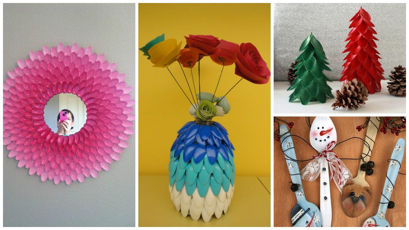 11 Manualidades Con Cucharas De Plástico Recicladas Que Te Quitaran
