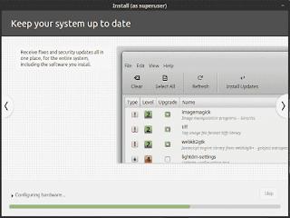 Linux Mint 19 Tara installation slide show keep system uptodate