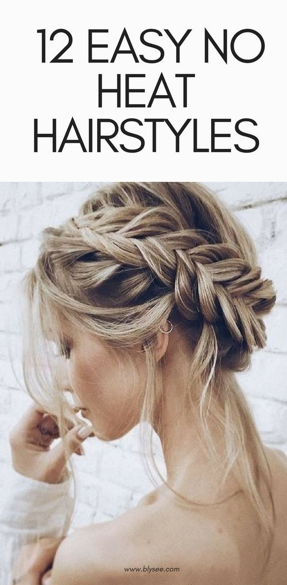 12 Easy No Heat Hairstyles For Summer