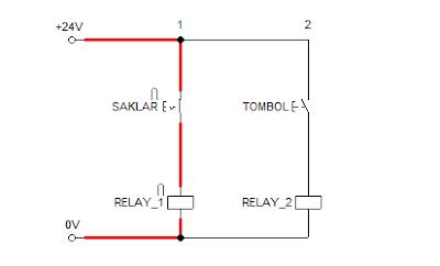Rangkaian sistem kontrol saklar dan tombol 3