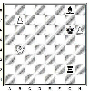 Estudio artístico de ajedrez compuesto por M. y V. Platov (La Strategie 1911)