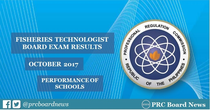 October 2017 Fisheries Technologist board exam result