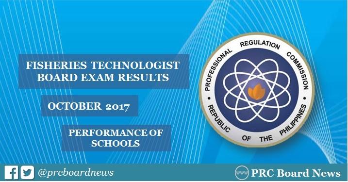 October 2017 Fisheries Technologist board exam result