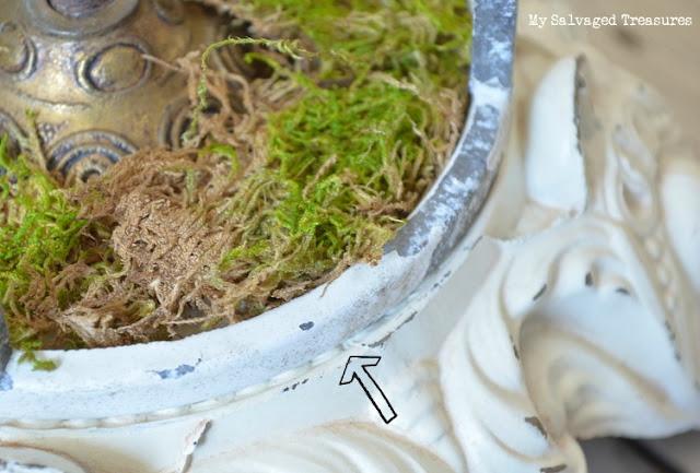 repurposed lamp base trash to treasure cloche