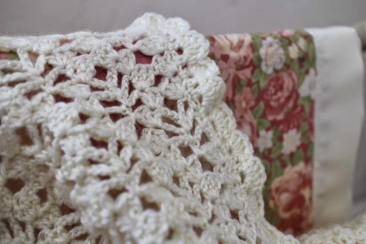 Lilacs and Springtime: Lacy Crochet Baby Afghan