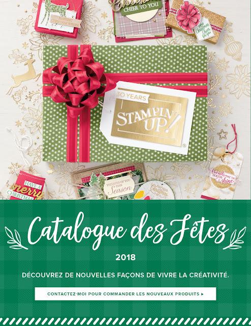 catalogue des fêtes 2018 Stampin' Up!