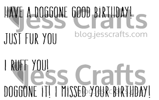 Jess Crafts Digitals Delightful Doggy Sentiments