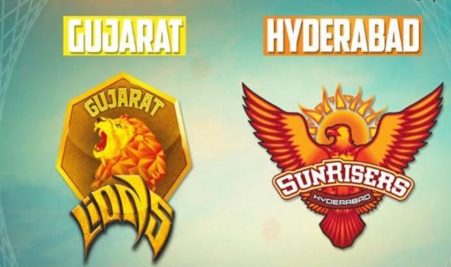 SRH vs Gujarat Lions Live Score Vivo IPL