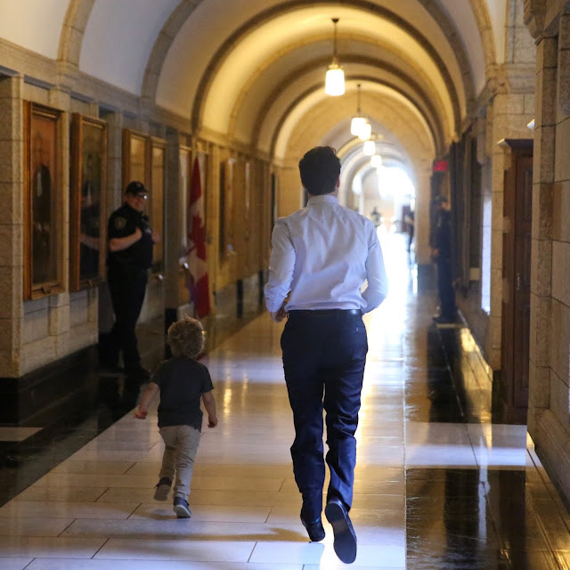 Canadian Prime Minister Takes His son  Hadrien Trudeau to work and they had so much fun. See pictures