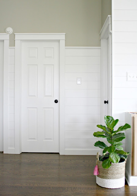 How to add shiplap walls for cheap