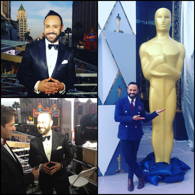 NICK APPEARANCES.....88th Annual Academy Award Red Carpet Reporting for Reuters TV: Photo Recap!